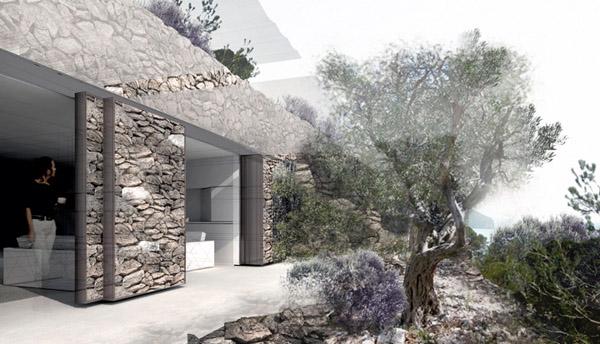 Diseño de la terraza de uno de los futuros pisos de la urbanización en Altea