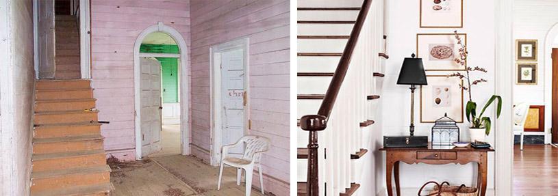 reforma vestíbulo casa campo