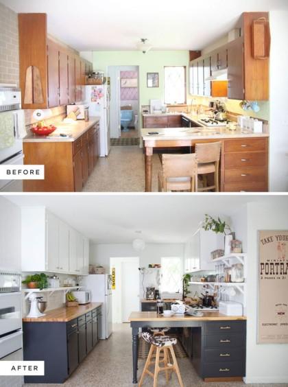 antes y después cocina antigua