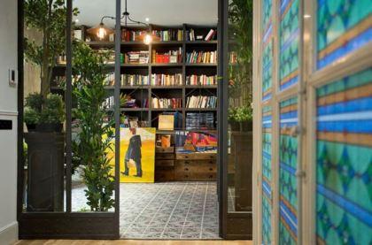 libreria estilo industrial