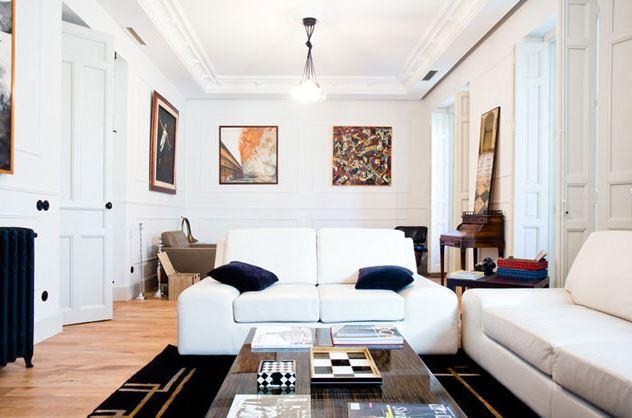 reforma salon piso clasico