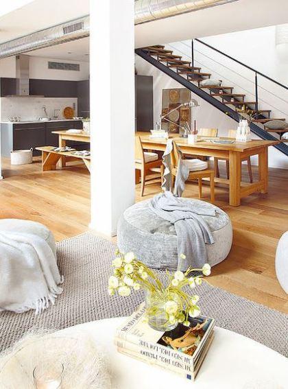 decoración comedor loft